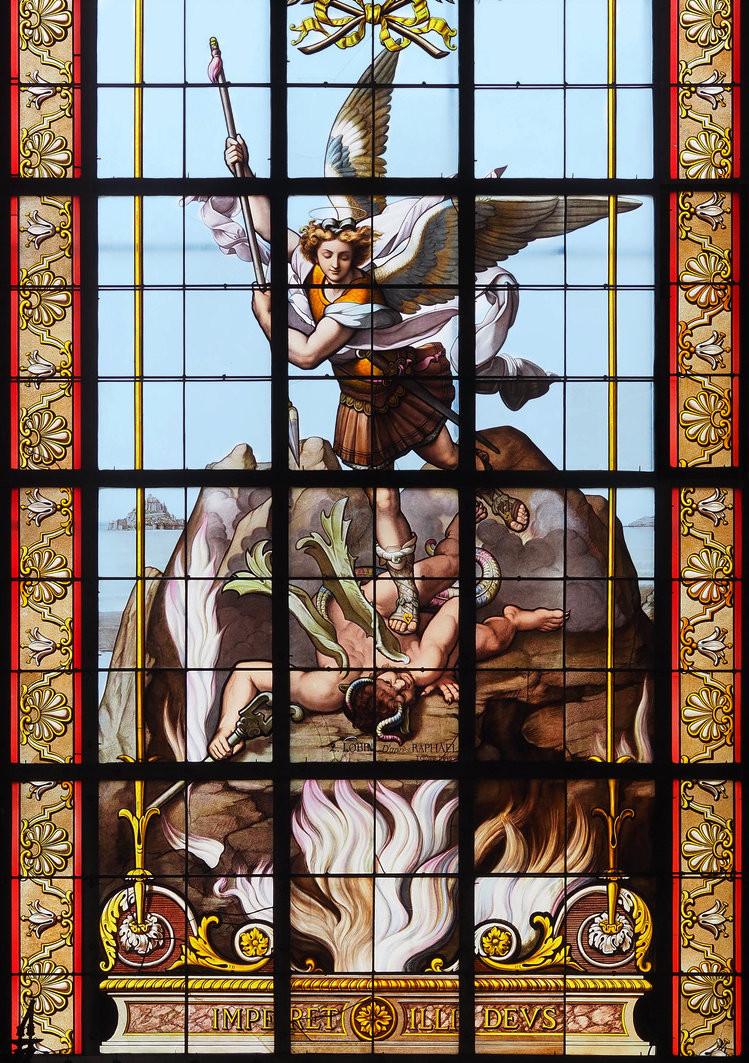 Saint-Michel par l'atelier L. Lobin, vue éloignée