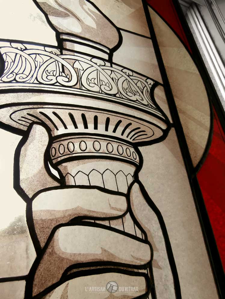 Liberty (détail) | Création vitraux | L\'Artisan du Vitrail | Drôme