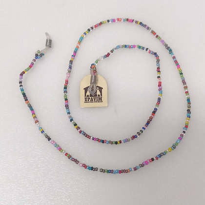 Multi-Colored Seed Bead Eyeglass Holder