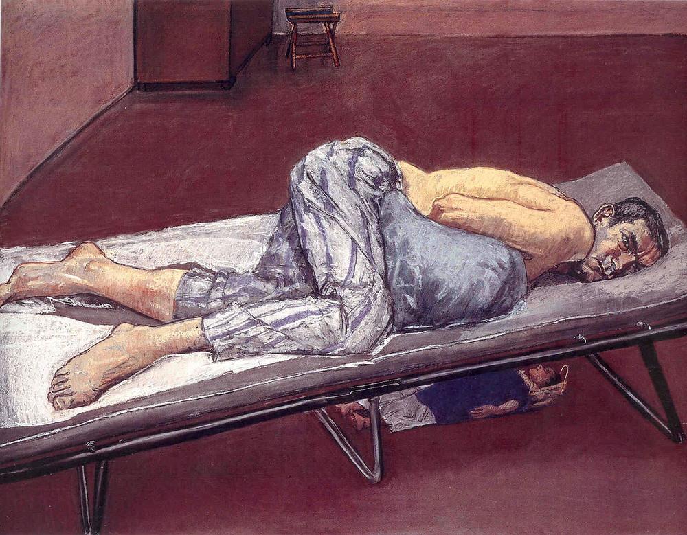 Paula REGO. The Cell, 1997.Pastel à l'huile sur papier monté sur Aluminium. 120X160cm.