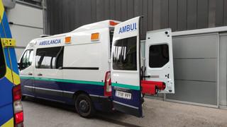 Ambulancias vascas dando servicio en Burgos para la Junta