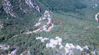 Rescatada una senderista herida en el Monte Motrico, en Miranda