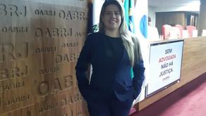 Nossa sócia-titular Caroline Roque no evento OAB Mulher RJ