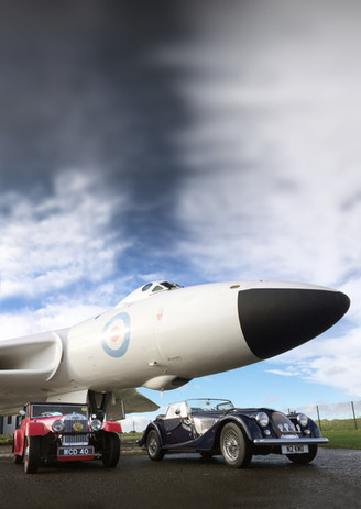 Morgans with the Vulcan Bomber