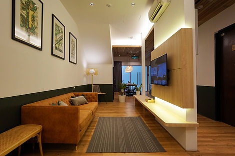 Hotel room, lounge, interior design, family suite, living room, boutique hotel, holiday apartment, bukit bintang, cozy lounge, room rental, zero deposit, room rental in bukit bintang, 3 star hotel, short term rental, co-living, student accommodation in kl, fully furnish, laundry room, serviced hotel, chaos hotel