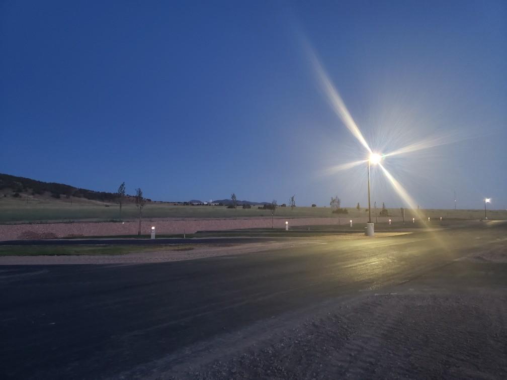 The park at dusk