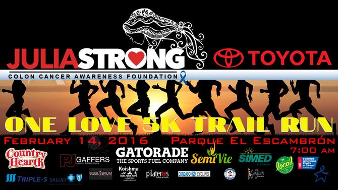 JULIASTRONG'S ONE LOVE 5K TRAIL RUN