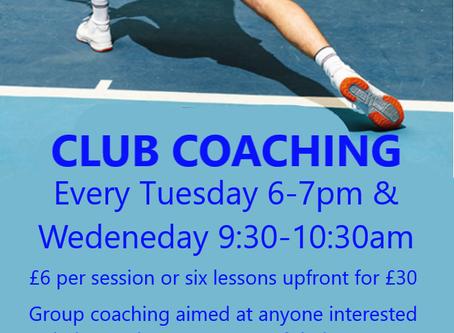 Club Coaching Returns