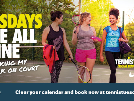 TENNIS TUESDAYS starts 14th May