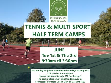 Tennis & Multi Sport Half Term Camps