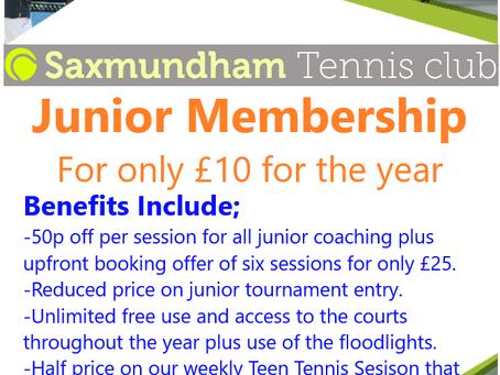 Junior Membership Offer