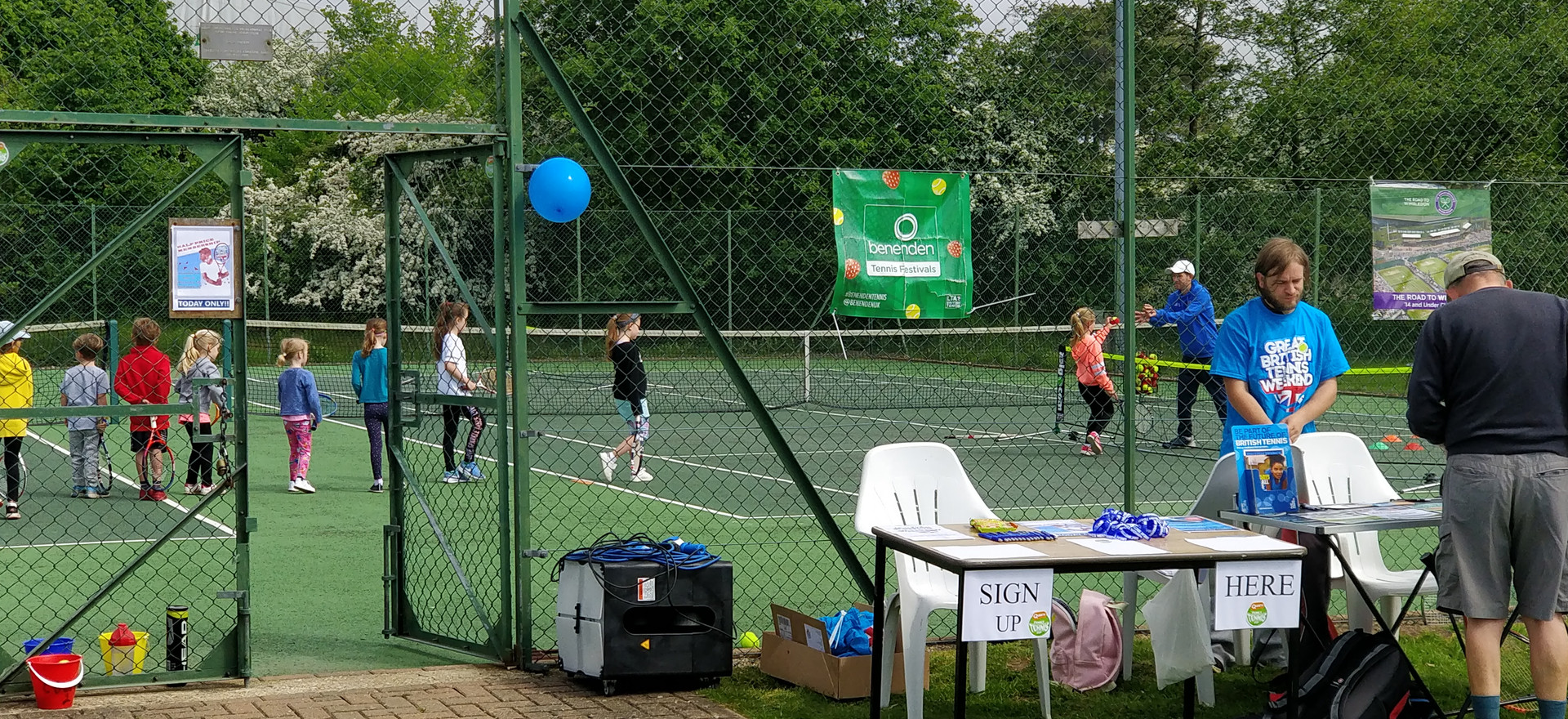 Tennis taster at our popular open day in 2018