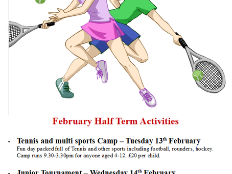 February Half Term Junior Activities