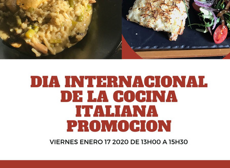 Dia internacional de la cocina italiana at Red Velvet