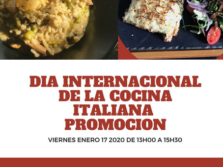 Dia internacional de la cocina italiana at Red Velvet