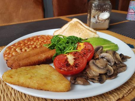 "Full english breakfast ""Big Boy"" for our Vegetarians & Vegans clients now at the Red Velvet"