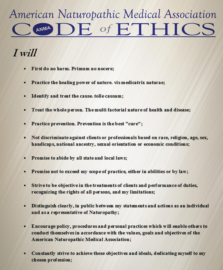 anma code of ethics