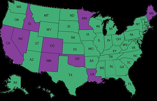 SCAHP SOCIETY Legislative Map purple gre