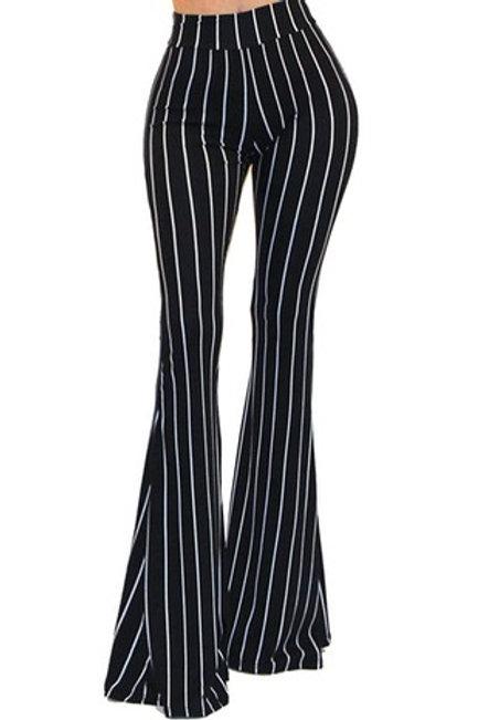 Black/White Pinstripe Pants