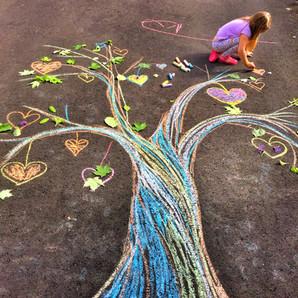 Chance seedling chalk art