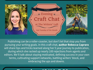 Writing with Resilience: Craft Chat @ The Writers' Loft