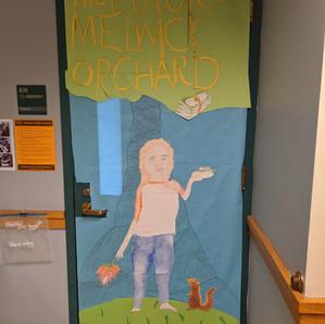 Melwick door @ Blanchard Memorial School