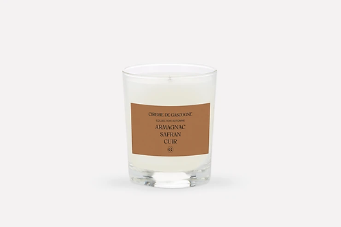 Bougie armagnac- safran- cuir Cirerie de Gascogne