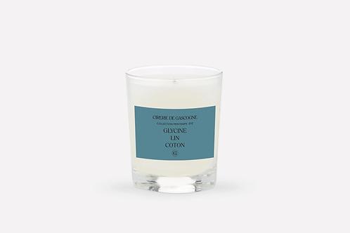 Bougie glycine- lin- coton Cirerie de Gascogne