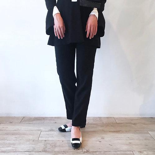 black line pants