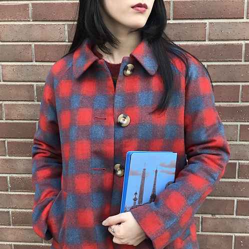 like 80s vintage checked coat
