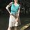 Thumbnail: turquoise  viscose camisole