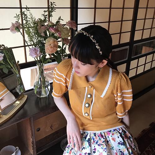 apricot yellow cotton knit