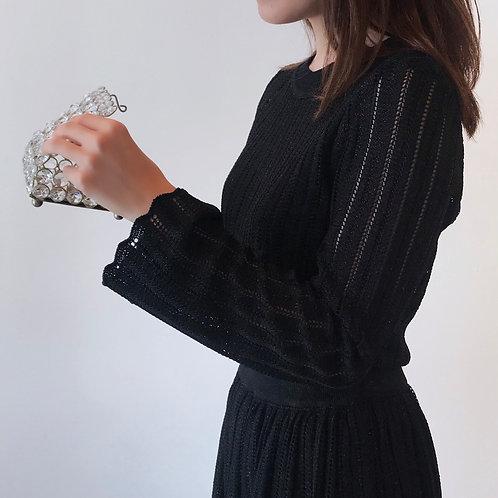 glitter knit[black]
