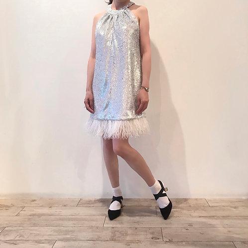 white spangle dress