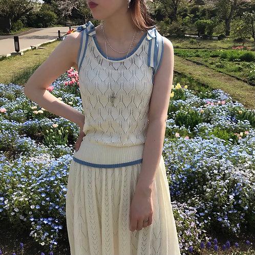milk cotton knit top