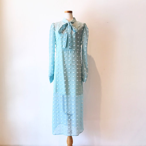 sheer  long dress(turquoise)