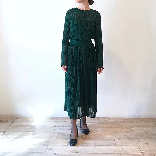 glitter skirt[billiard green]
