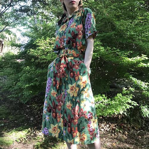 botanical summer blouse