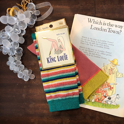 vintage style socks(2packs/06103)