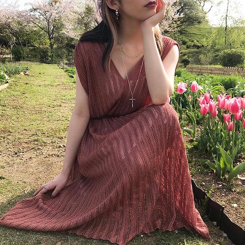 vintage pink glitter dress