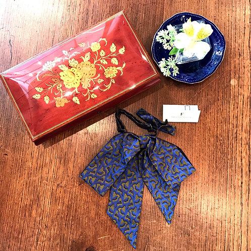 classical ribbon tie(blue)
