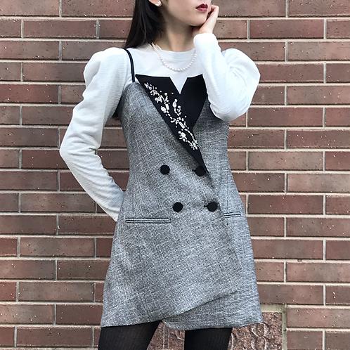 black  bijou mini dress