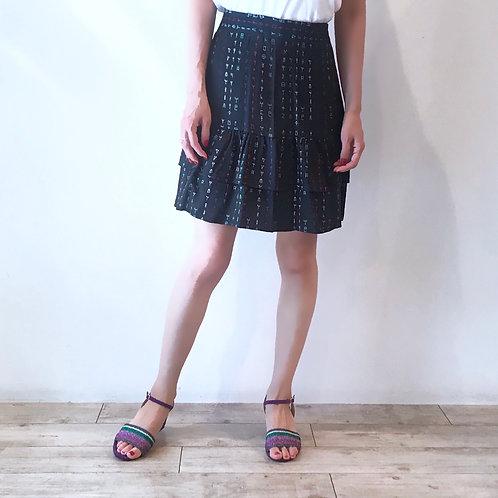 viscose navy miniskirt