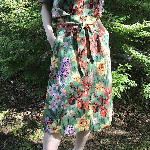 botanical summer skirt
