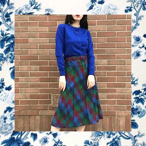blue design cardigan