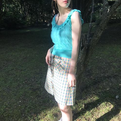turquoise  viscose camisole