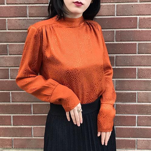 orange art blouse