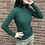 Thumbnail: moss green turtleneck tops