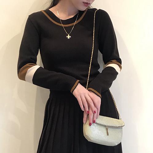 brown knit dress
