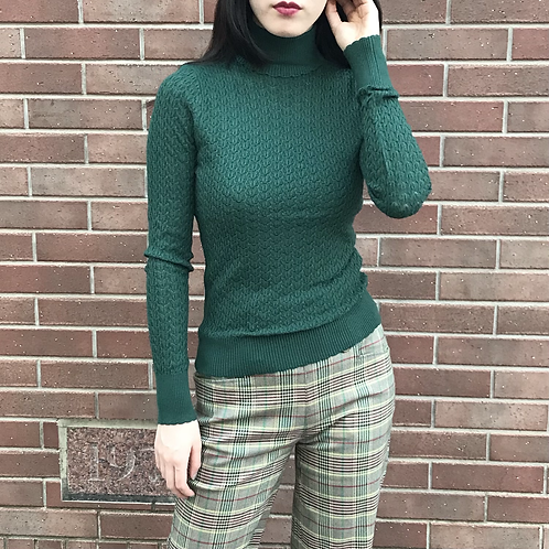 moss green turtleneck tops